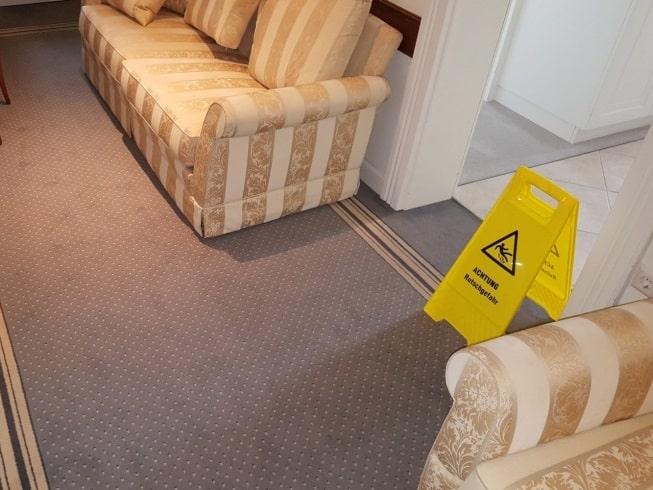 einigung von Teppichböden und Auslegware in Hotels